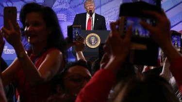 President Trump speaks at CPAC 2017