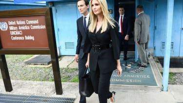 Ivanka Trump and Jared Kushner at the DMZ