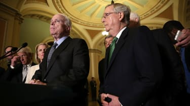 Sens. John McCain and Mitch McConnell