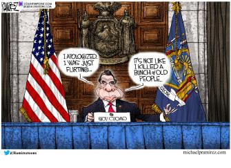 Political Cartoon U.S. cuomo nursing home sexual harassment