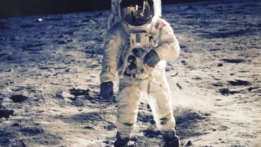 Buzz Aldrin says the moon has a 'velvet-like sheen' up close