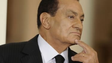 Egyptian President Hosni Mubarak and his government have declared the protests illegal and banned the use of Facebook and Twitter.