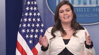 Sarah Huckabee Sanders added to the confusion of the press this week.