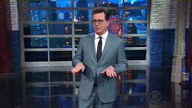 Stephen Colbert previews Trump trade war with Canada