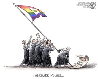 Editorial Cartoon U.S. supreme court LGBTQ ruling