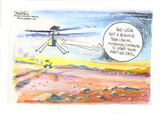 Editorial Cartoon U.S. mars ingenuity rover