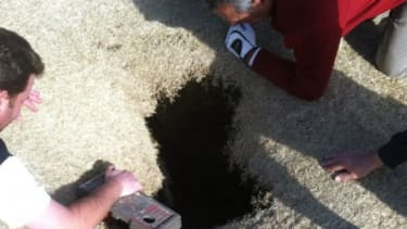 You never know when you might be swallowed alive by a sinkhole.