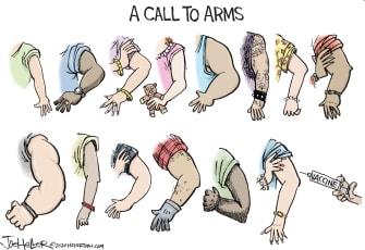 Editorial Cartoon U.S. COVID vaccines