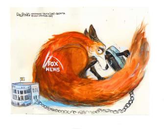 Political Cartoon U.S. Fox News Trump