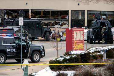 Boulder King Sooper supermarket after mass shooting