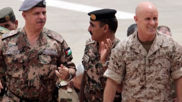 Robert Harward, right, at joint military exercises in Amman in 2012.
