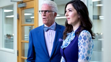 A scene from The Good Place.