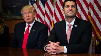 Donald Trump and Paul Ryan.