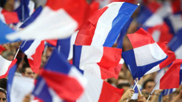 French flags wave