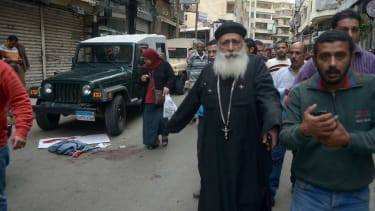 The aftermath of a Coptic Church bombing in Egypt
