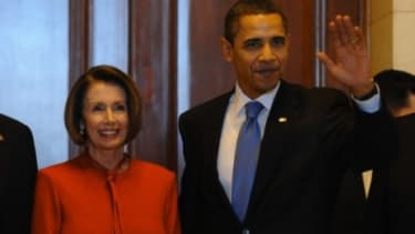 Obama and Pelosi.