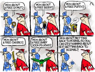 Editorial Cartoon U.S. covid vaccine hesitancy