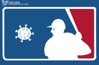 Editorial Cartoon U.S. MLB coronavirus Miami Marlins