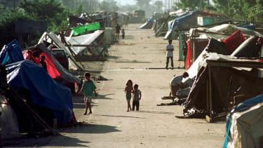 Hondurans after Hurricane Mitch.