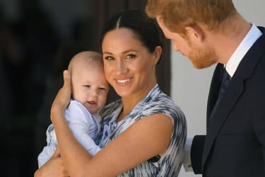 Meghan with her first child, Archie.