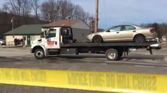 Police investigate a shooting at a Pennsylvania car wash
