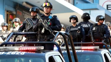Police in Veracruz, Mexico.