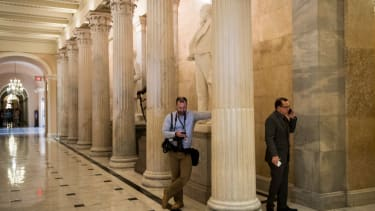 Journalists on Capitol Hill.