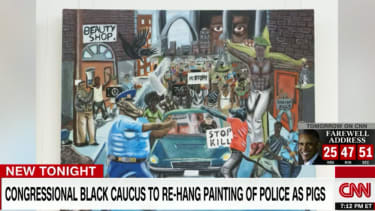 Student's painting depicting police as pigs to be removed from the U.S. Capitol complex