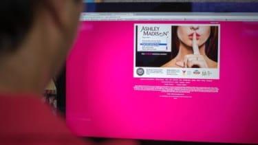 The Ashley Madison website.
