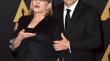 Carrie Fisher and her son, Todd Fisher.