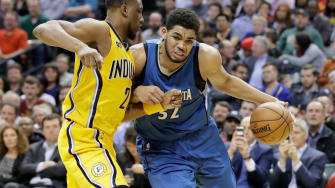 Karl-Anthony Towns of the Minnesota Timberwolves.