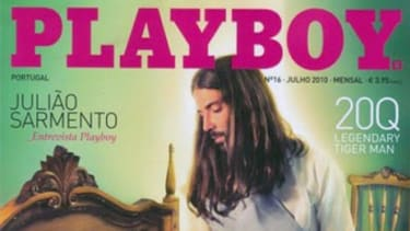 The PG portion of the Playboy cover.