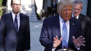 Trump, Mnuchin, and Mark Meadows