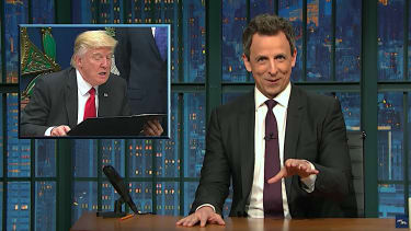 Seth Meyers cringes over Trump executive order