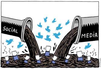 Editorial Cartoon U.S. Social media toxic waste