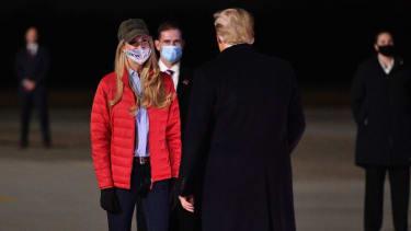 Kelly Loeffler and Donald Trump.