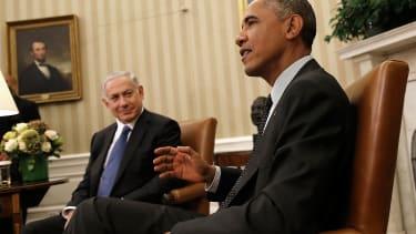 Benjamin Netanyahu (left) and Barack Obama
