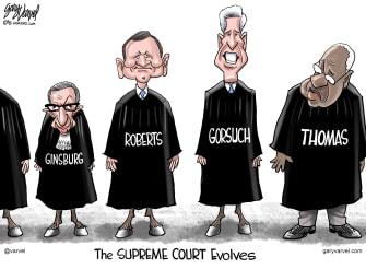 Political Cartoon U.S. Supreme Court Gorsuch democrats LGBTQ