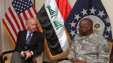 Joe Biden and Lloyd Austin.