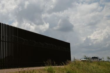 A section of the southern border wall in the Rio Grande Valley.