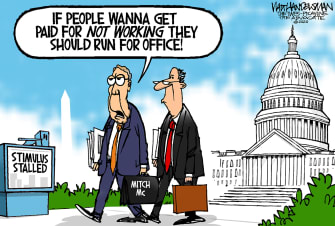 Political Cartoon U.S. McConnell congress coronavirus relief