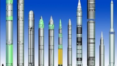 Nuclear missiles from around the world