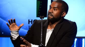 Kanye West speaks at the 17th Annual Hollywood Film Awards