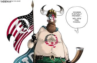 Political Cartoon U.S. qanon trump