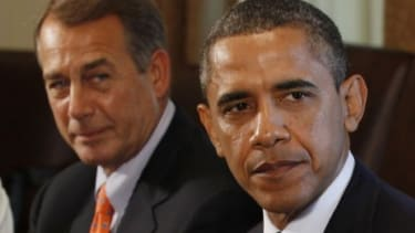 House Speaker John Boehner and President Obama are trying to reach a deal to raise the nation's $14.3 trillion debt ceiling before the Treasury runs out of money to meet its financial obligat
