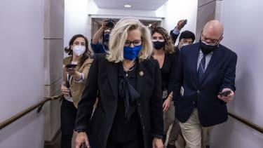Liz Cheney in Washington heading to the House floor
