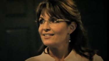 A screenshot from Sarah Palin's new commercial.