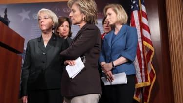 Kay Hagan and other female Senators in 2011.