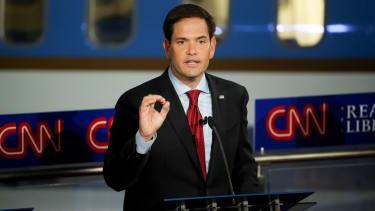 Marco Rubio speaks during the Republican presidential debate.