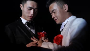 A same-sex couple in China in 2012.